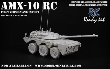 AMX-10 RC, first version and export, french vehicle Model Miniature