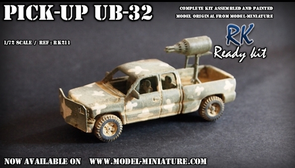 pick up UB 32, 1/72 Model Miniature milice
