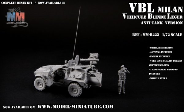 VBL Milan, Model Miniature,french véhicle,