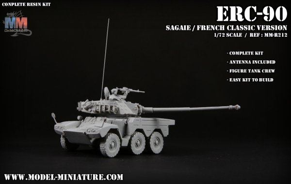ERC 90 sagaie, AML, Lynx, french army, model miniature,