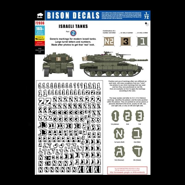 bison decals israeli tanks 2 model miniature. Black Bedroom Furniture Sets. Home Design Ideas