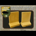 Concrete blocks defensive   (set 2) 1/35