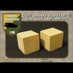 Cubic concrete blocs (set 2) 1/35 scale