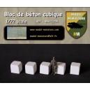 Cubic concrete blocs, 1/72 scale