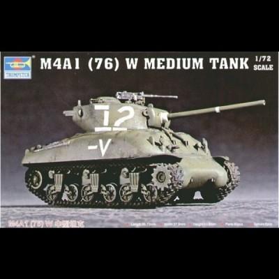 Trumpeter: M4A1 (76) W Medium Tank, 1/72