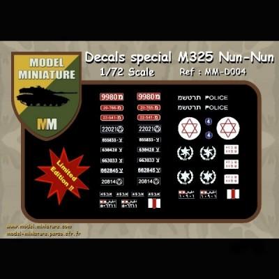 Decals spécial M-325 Nun Nun, 1/72 scale