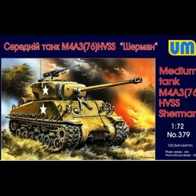 UM: Medium Tank M4 A3 (76) HVSS Sherman, 1/72