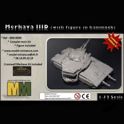 Merkava IIID (with figure in hammock)