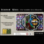 Strained Glass (for Middle-East Church), 1/35 scale