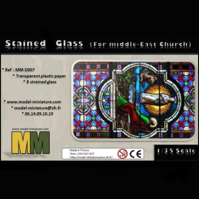 Stained Glass (for Middle-East Church), 1/35 scale