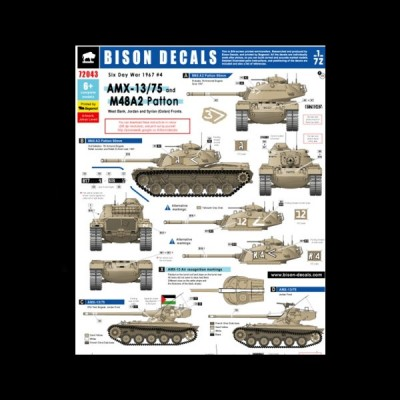 Bison Decals: AMX-13/75 and M48A2 Patton