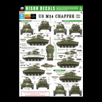 Bison Decals: US M24 Chaffe, 1944-1945 (1/35 scale)