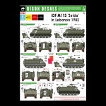 "Bison Decals: IDF M-113 ""Zelda"" Lebanon 1982, 1/35 scale"