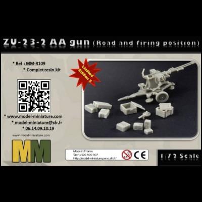 ZU-23-2 AA gun (road and firing position)
