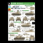 Bison Decals: AMX-13/75, M-50 and M-51 Super Sherman, 1/35