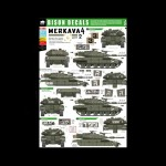 Bison Decals: Merkava IV, (part 2), 1/35 scale