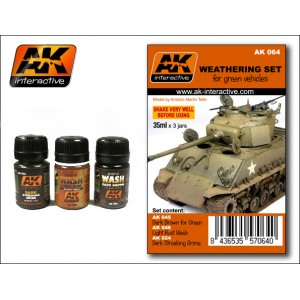 AK-Interactive: Weathering Set For Green Vehicles