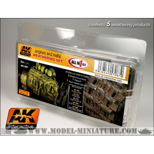 AK-Interactive:Engines And Metal Weathering Set