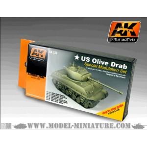 AK-Interactive: Olive Drab Color Set