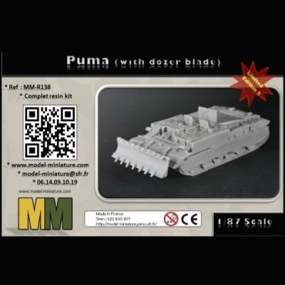 Puma (with dozer blade), 1/87 scale