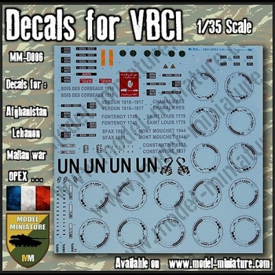 Decals for VBCI, 1/35 scale
