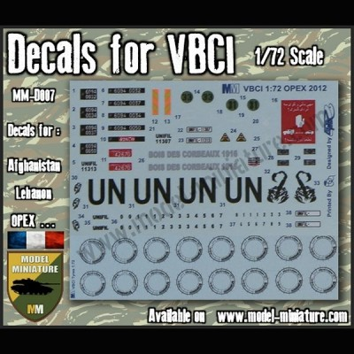 Decals for VBCI (set 1)