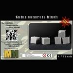 Cubic concrete block