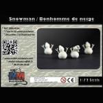 Snowmann / bonhomme de neige
