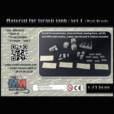 Material for Israeli tank / set 1 (with Droid)