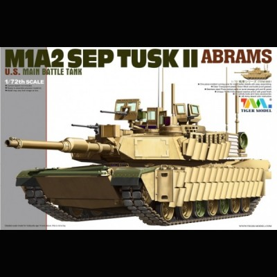 M1A2 TUSK II Abrams MTB, Tiger Model, 1/72