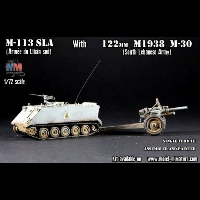M-113 SLA with 122mm M1938 M-30