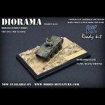 Diorama and gold plate