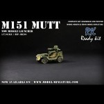 M151 Mutt TOW Missille Launcher, Ready Kit, 1/72