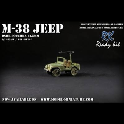 M-38 Jeep DSHK Douchka 14.5mm, Ready Kit, 1/72
