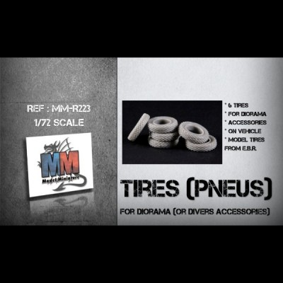 Tires (pneu) for diorama or divers accessories