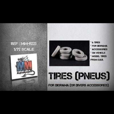 Tires (pneu) for diorama or divers accessories