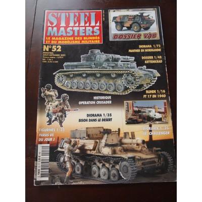 STEELMASTERS N°52, septembre 2002, opération Crusader, Panther , FT-1