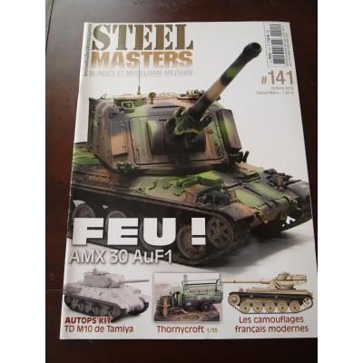 STEELMASTERS N°141, octobre 2017, AMX-30 AuF1, camo français moderne,TD M10