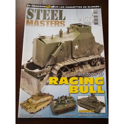 STEELMASTERS N°157 Bulldozer D7, Racing bull, Challenger 2