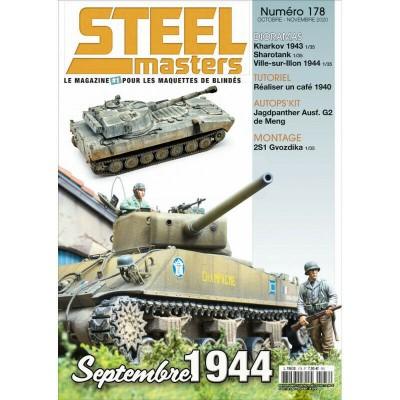 STEELMASTERS N°178 oct/nov 2020, Jagpanther,Kharkov 1943, Sharotank, 2S1 Gvozdik