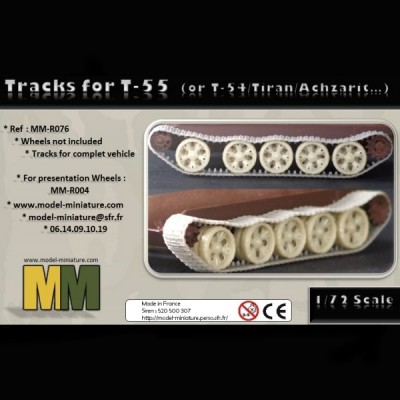 Tracks for T-55 (or T-54, tiran, Achzarit)