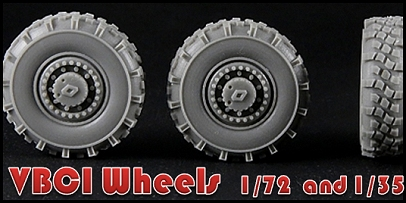 VBCI Wheels in 1/35 scale (for Heller kit)