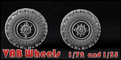 VAB Wheels in 1/35 and 1/72 scale